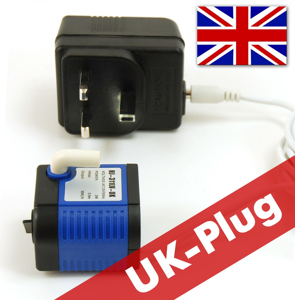 Lucky-Kitty low voltage pump w. PSU (UK-Plug)